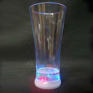 12 oz LED Light Up Flashing Pilsner Beer Glass
