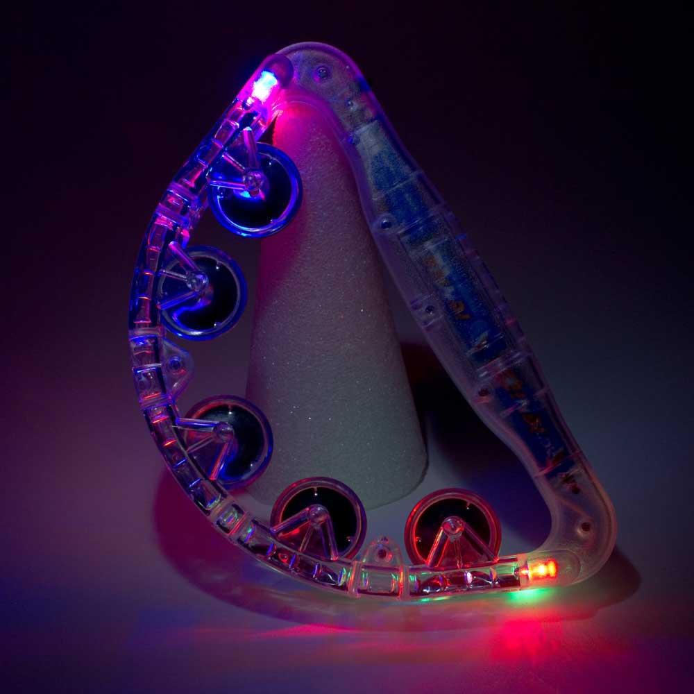 Flashing LED Tambourine