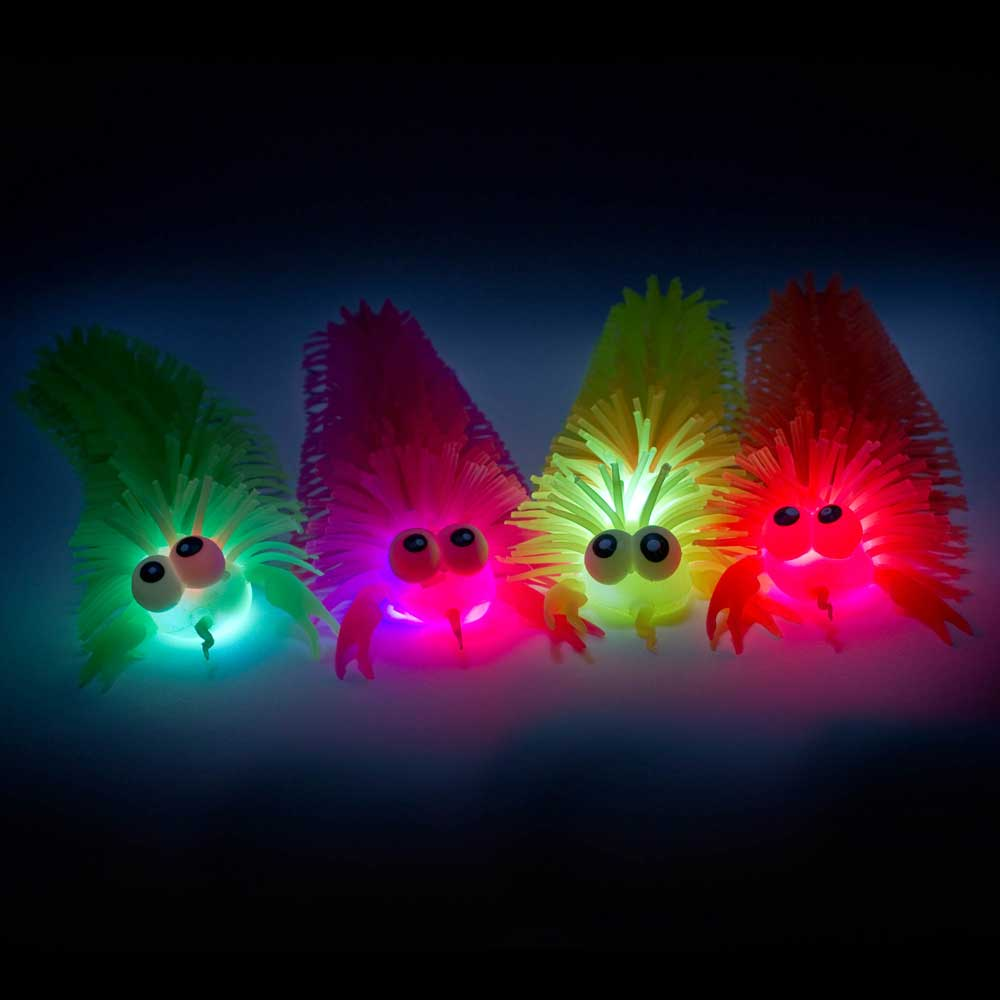Flashing LED Puffer Crab, various colors