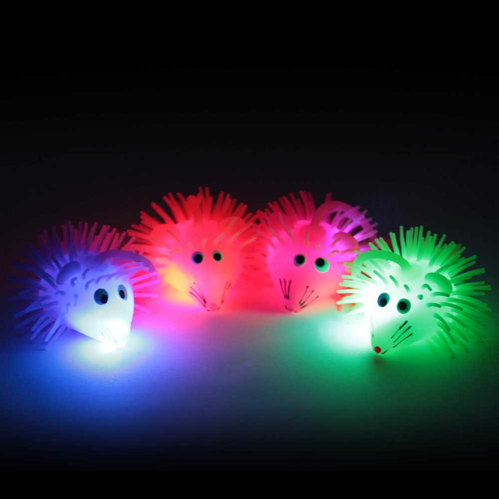 Flashing LED Puffer Yo-Yo - Mouse, various colors