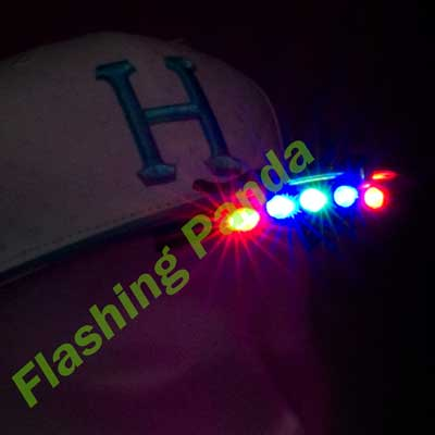 5 LED Baseball Cap/Hat Clip-on Flashlight, Multicolor lights