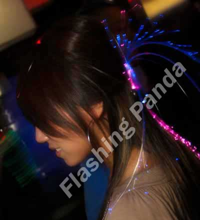 Glowbys LED Fiberoptic Lightup Hair Barrettes