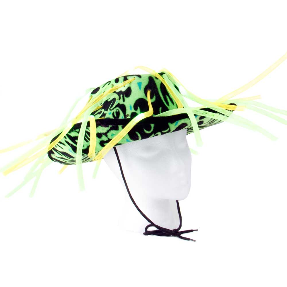 Flashing LED multicolor Tentacle Noodle Cowboy Hat