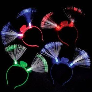 Fiber-Optic LED Flashing Headband