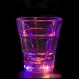 2 oz Flashing Shot Glass, Litecubes® brand, multicolor