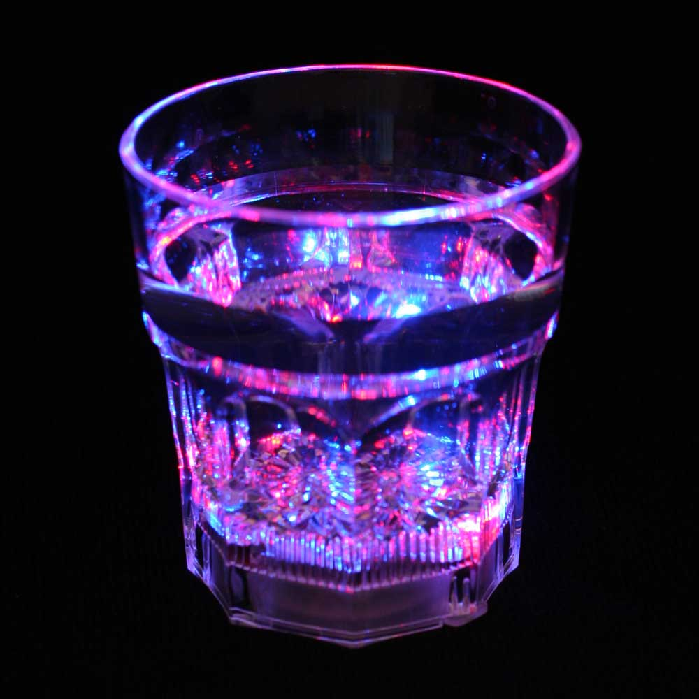 8 oz LED Light-Up Flashing Rocks / Whiskey Glass