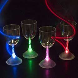 9 oz LED Light Up Flashing Wine Glass - Case of 48 units