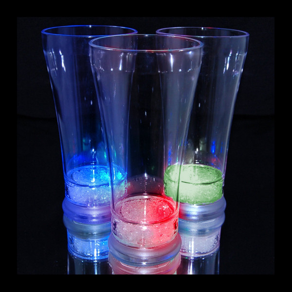 12 oz LED Light Up Flashing Pilsner Beer Glass - 48 units full case