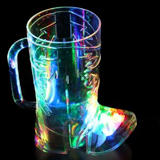 16 oz Cowboy Boot LED Flashing Drink Cup, 9 modes