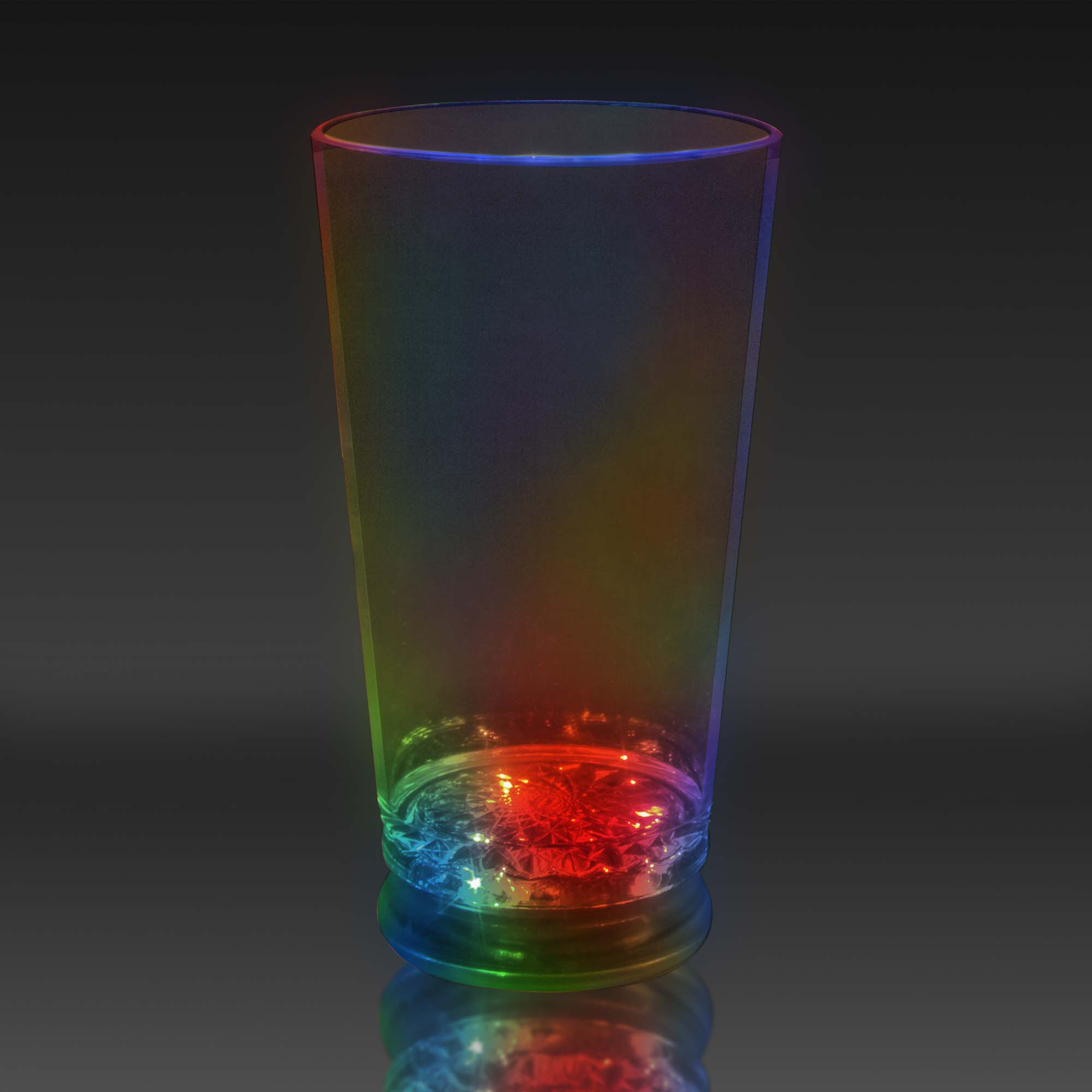16 oz LED Light Up Flashing Pint / Juice / Beer Glass