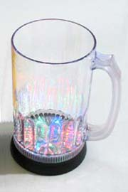 28 oz Large Light-Up 6 LED Flashing Beer Mug