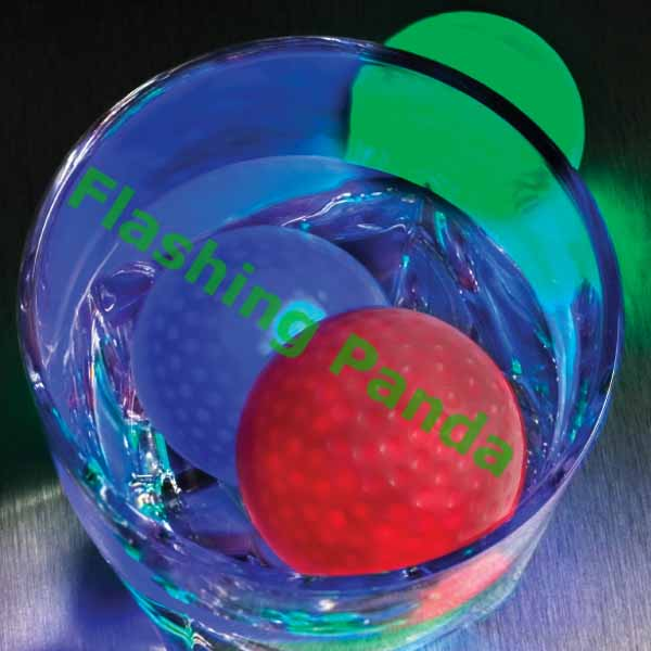 Litecubes® Flashing LED Freezable Golf Ball Ice Cube, Multicolor - 1 golf cube