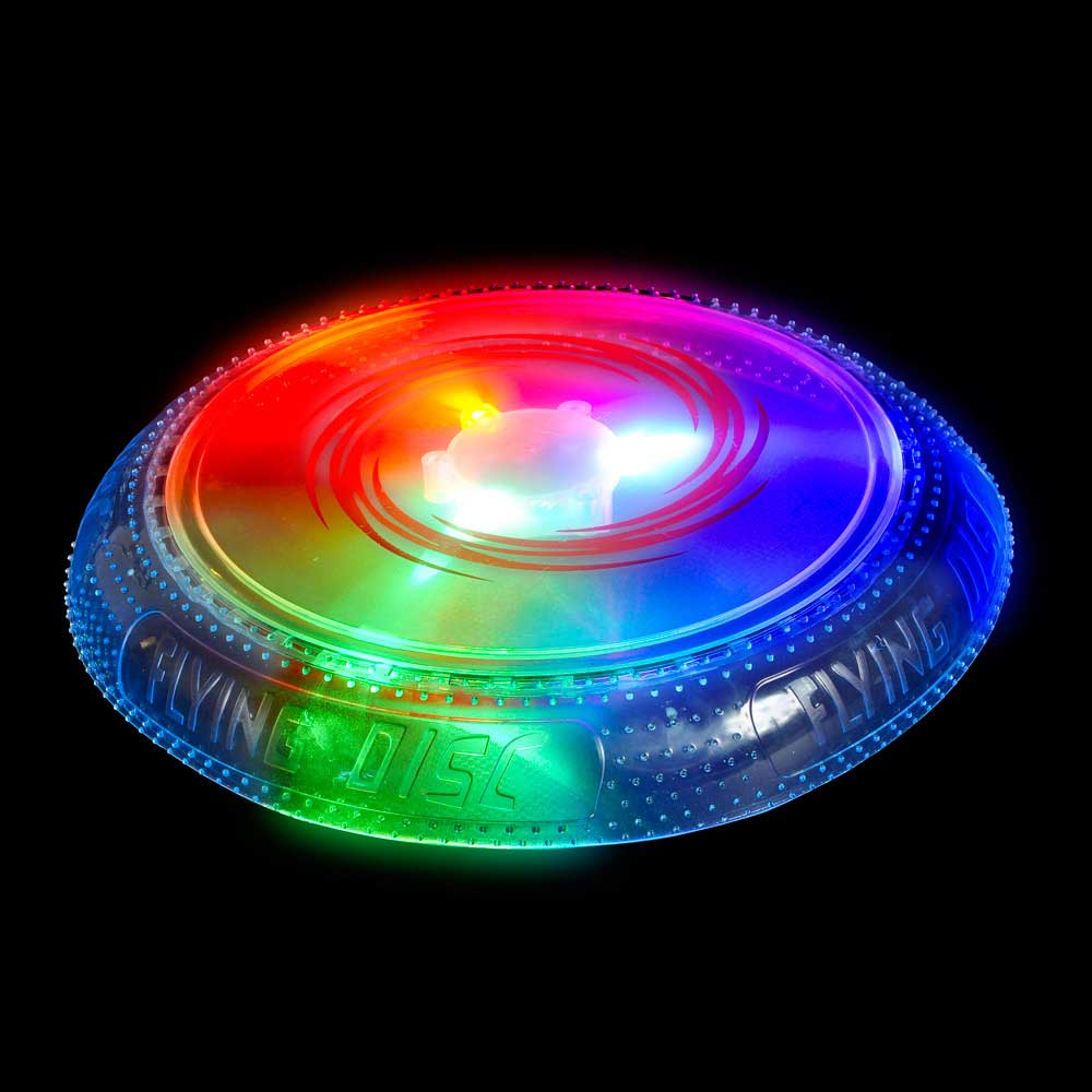 LED Light-Up Multi-Color Flashing 10 in. Frisbee