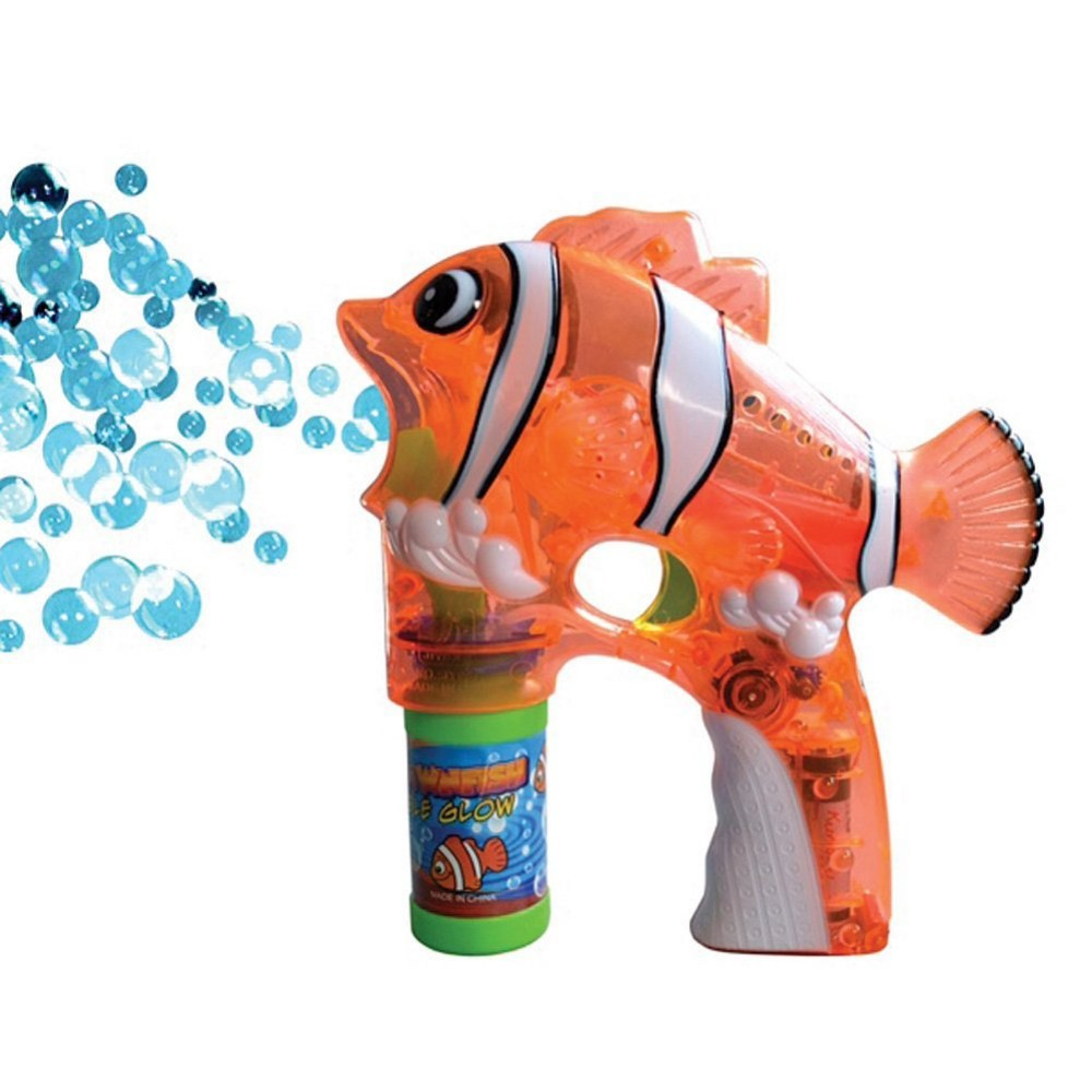 LED Flashing Clown Fish (Like Nemo) Bubble Gun, Lot of 24