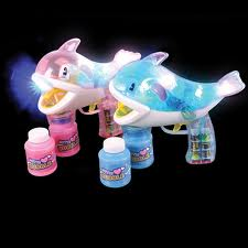 LED Flashing Whale Bubble Gun with 2 bottles of bubble solution