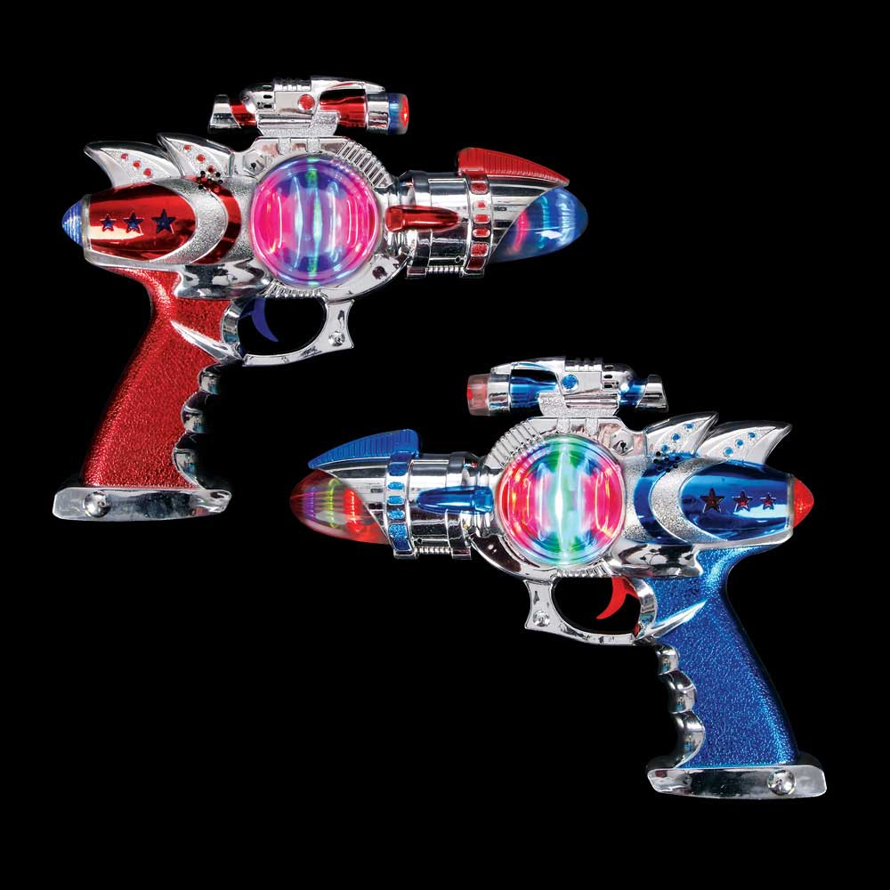 Galactic Space Blaster Gun with 2 LED Light Spinners & Sound