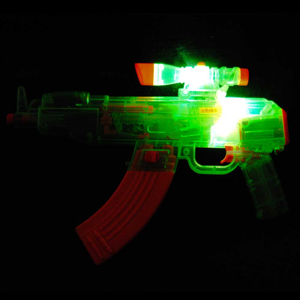 Flashing LED Water Machine Gun with Sound