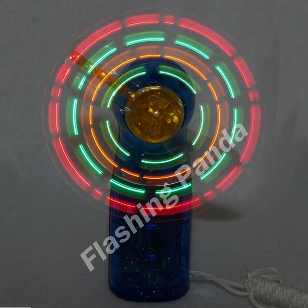 LED Mini Light-Up Handheld Personal Fan with Changing Light Patterns, Assorted Colors
