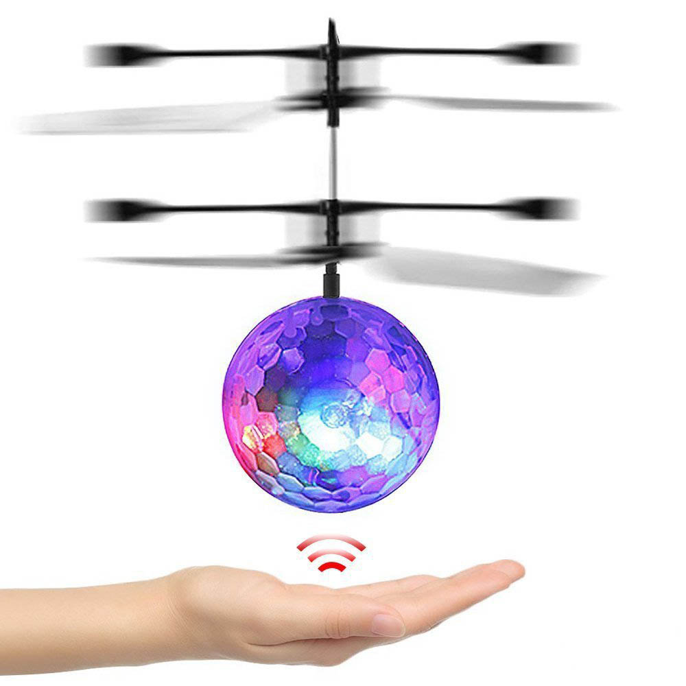 Amazing Flying Disco Ball Mini Aircraft Helicopter with Flashing Lights, Controlled by Hand