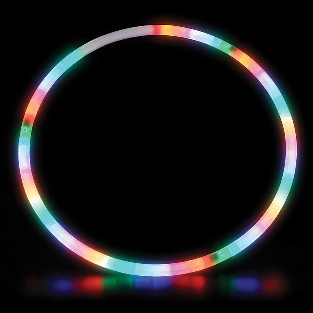 "LED Light-Up 28"" Child/Decor Hoop (Like Hula Hoop but with lights!)"