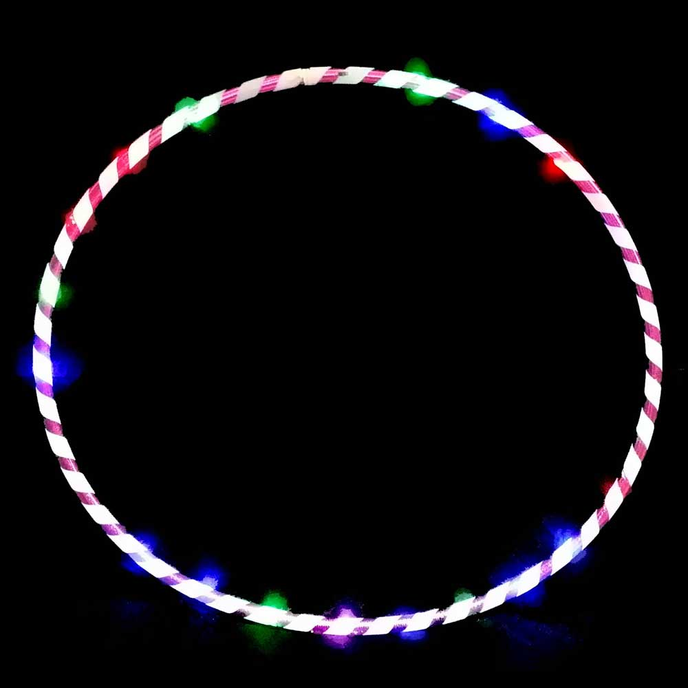 "LED Light-Up 36"" Collapsible Multi-Color Flashing Twist Hoop"