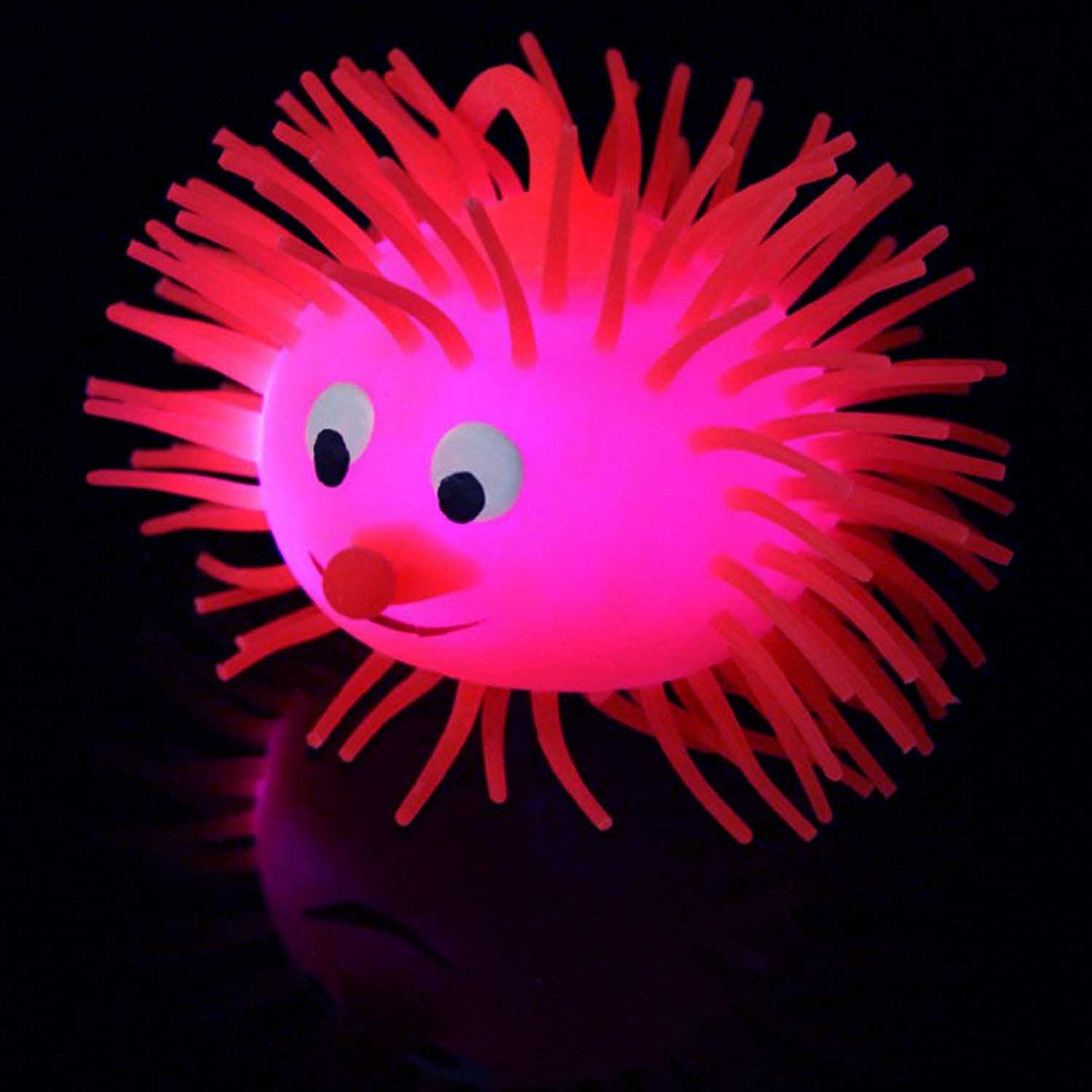 "Multi-Color LED Flashing Puffer Yo-Yo Mouse, Jumbo 4"", Assorted Colors"
