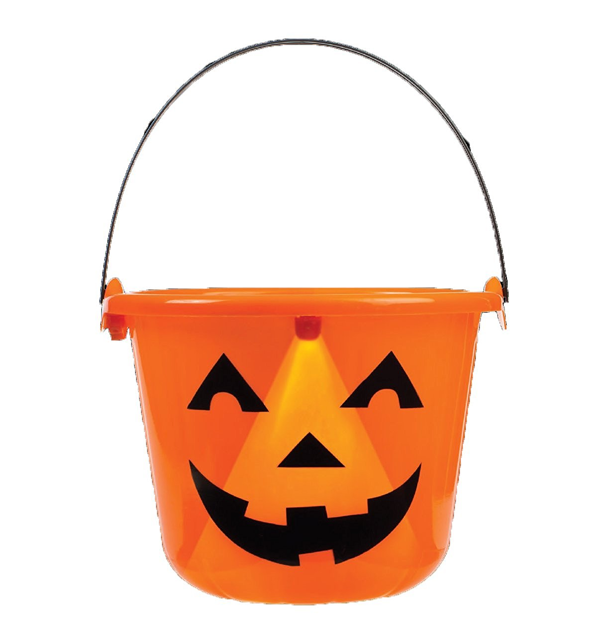 Flashing LED Light Up Jack O Lantern Pumpkin Halloween Trick Or Treat Canty Bucket / Pail
