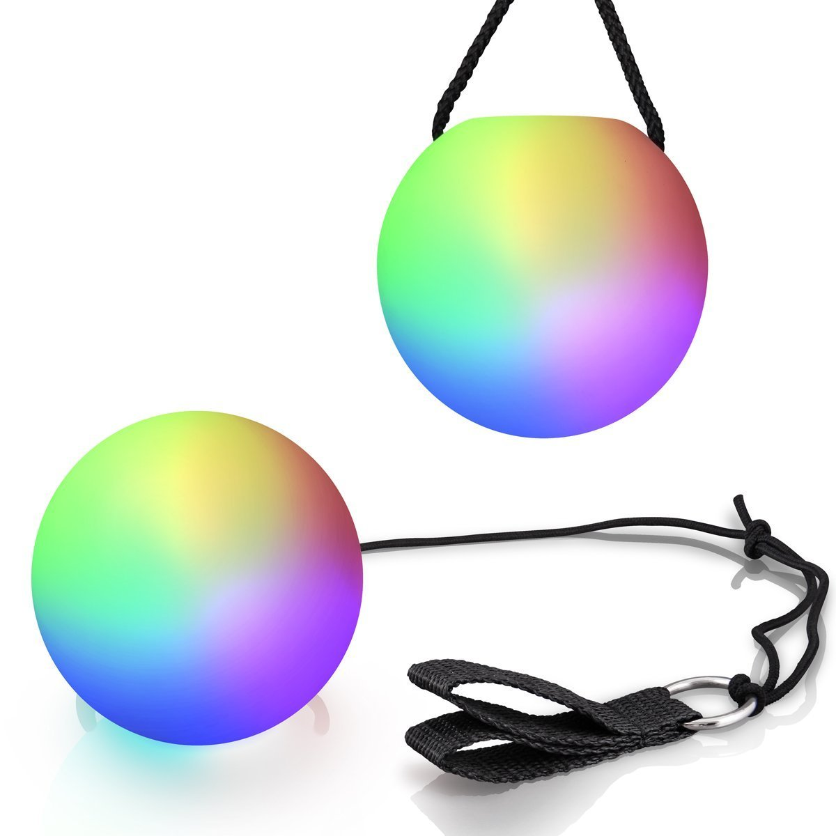 "LED Multi-Color 3"" 6-Function POI Ball Set with Batteries"