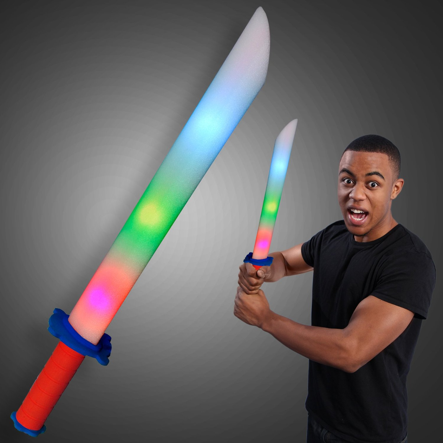 Foam Sword, Light Up LED Flashing Toy / Prop