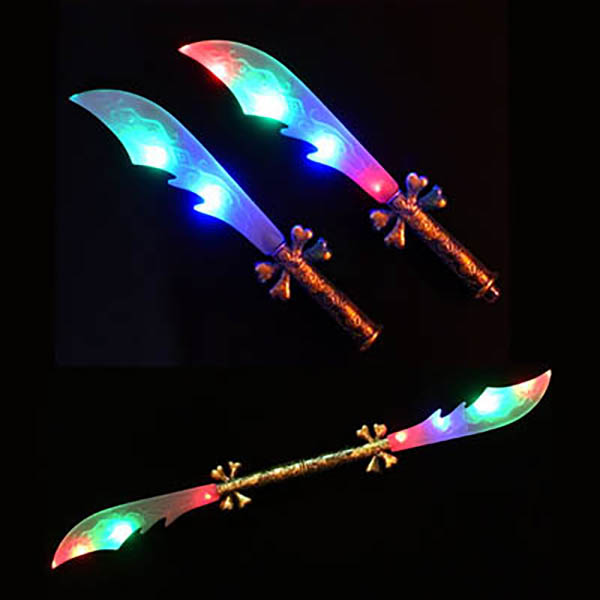 "42"" Double-Sided Flasing Multicolor LED Skull and Bone Sword, 3-Modes"