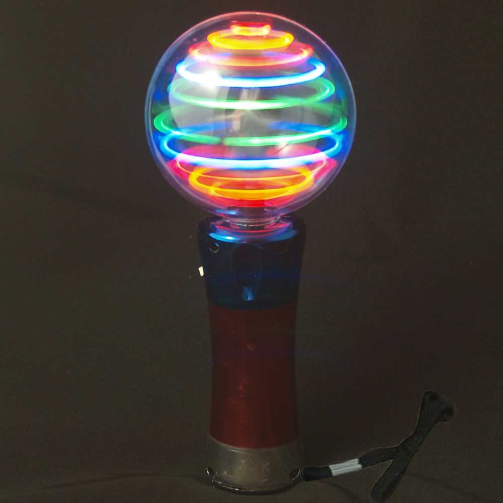 Meteor Storm Flashing LED Changing Pattern Spinner Wand