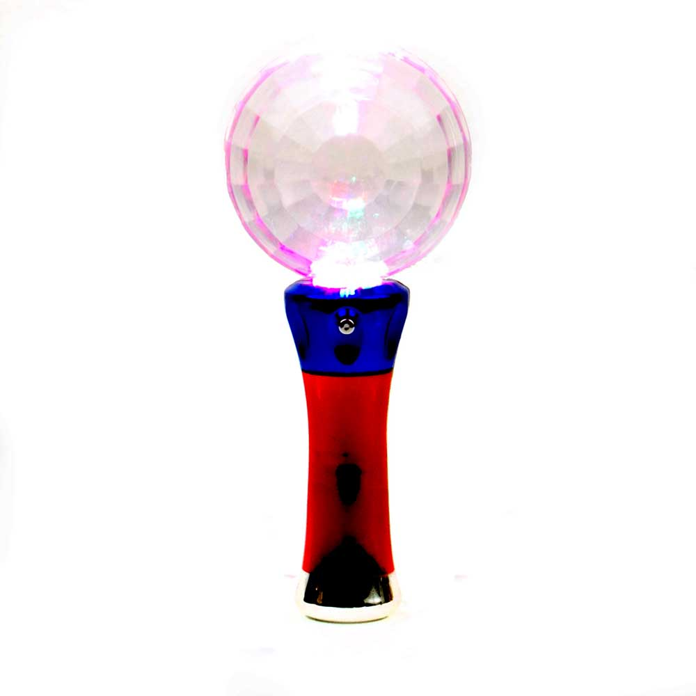 Prism Globe Multicolor LED Flashing Wand, Amazing disco-ball light effects!