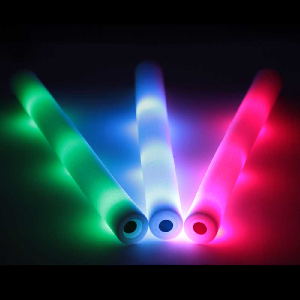 Rally Foam Wand LED Light-Up Baton Cheer Stick, Standard 3-mode