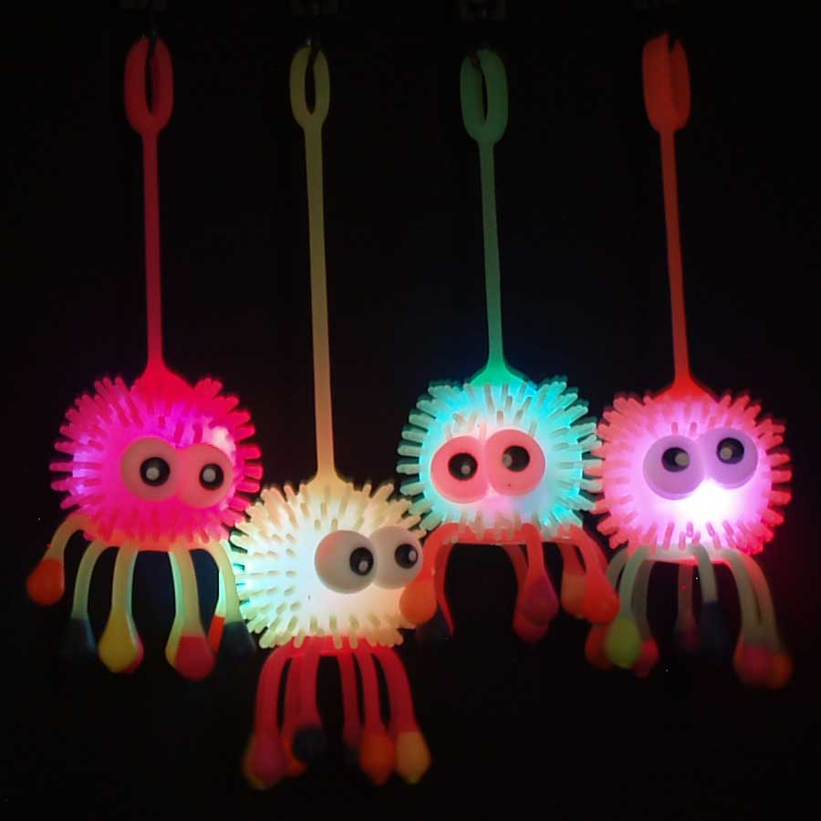 Flashing LED Puffer Yo-Yo - Octopus, various colors