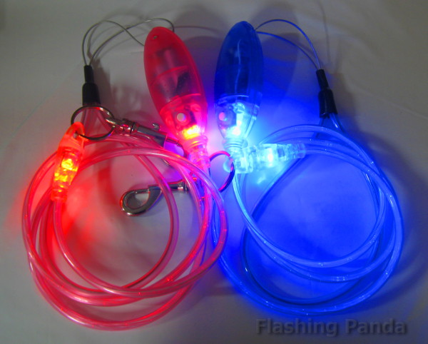 Light Up LED Pet Leash, Small: up to 44 lb.