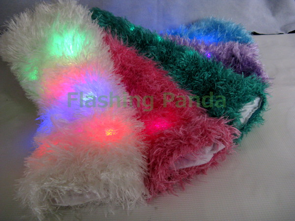 Led Light Up Fuzzy Flashing Raver Leg Warmers