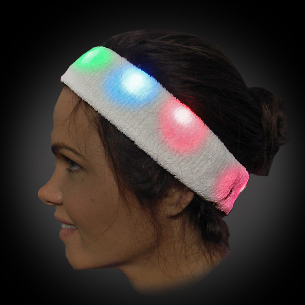 LED Flashing Sweatband, Multicolor - Head