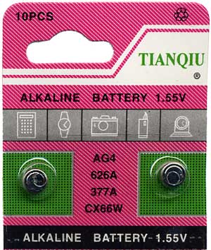 AG4 Battery (G4, 626A, 377A, SR626) - 10 card