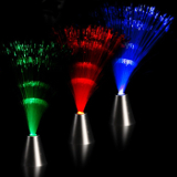 "Fiber Optic Light Up LED 13"" Silver Cone Centerpiece Lamp, Multi-Color - Case of 96"