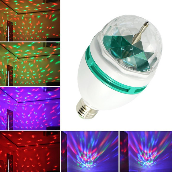 110 Volt LED Spinning Multi-Color Disco Light