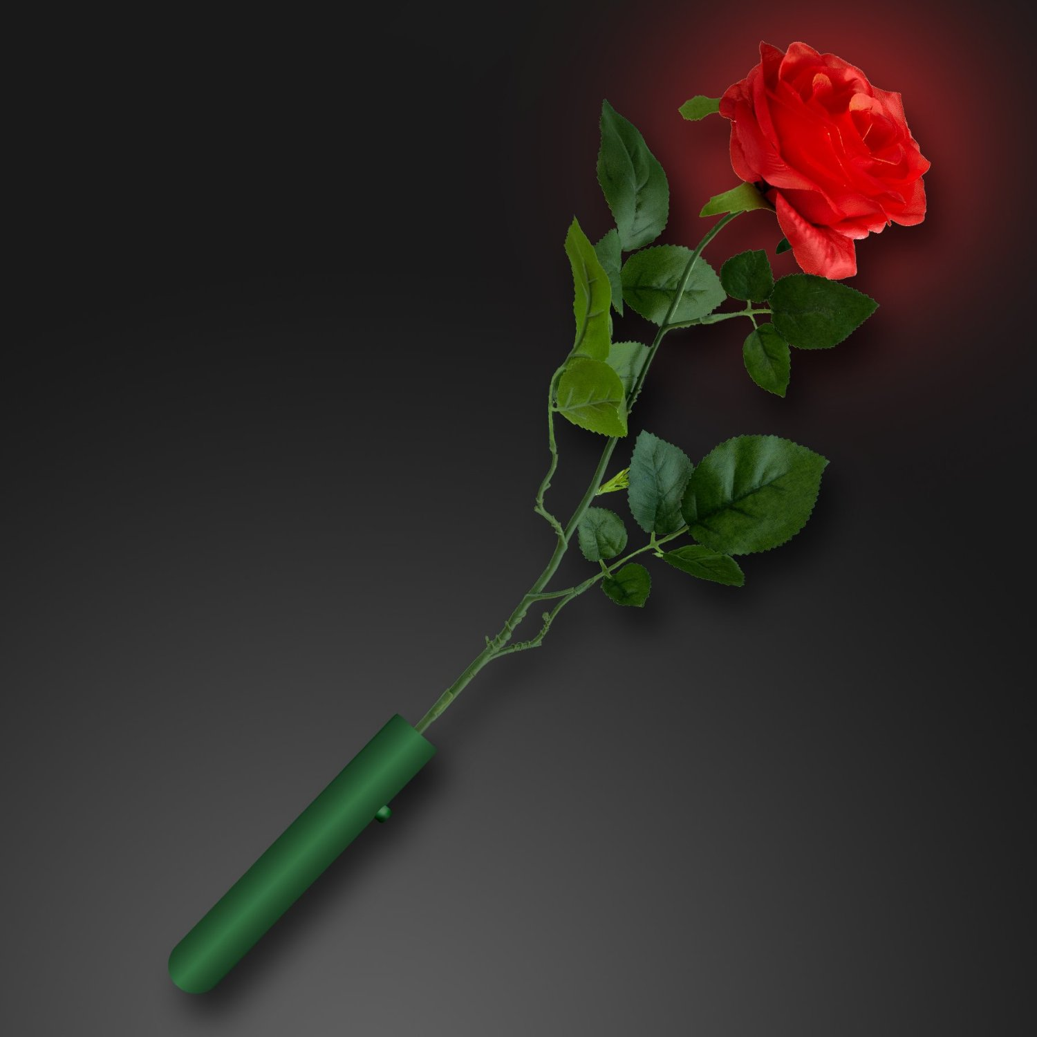 LED Light Up Glowing Red Rose