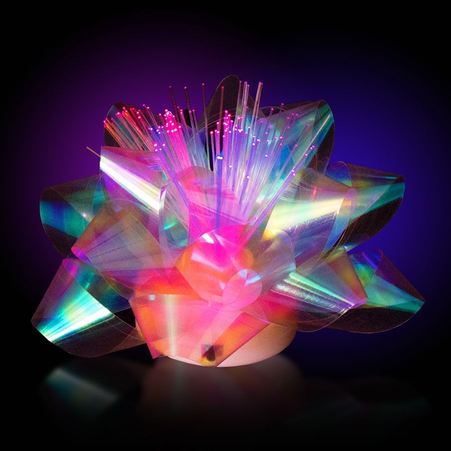 LED Fiber Optic Gift Bow