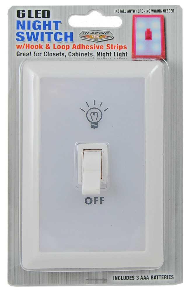 6 Led Wall Switch Light  Nigh Light  Closet Light  Aaa Battery Operated