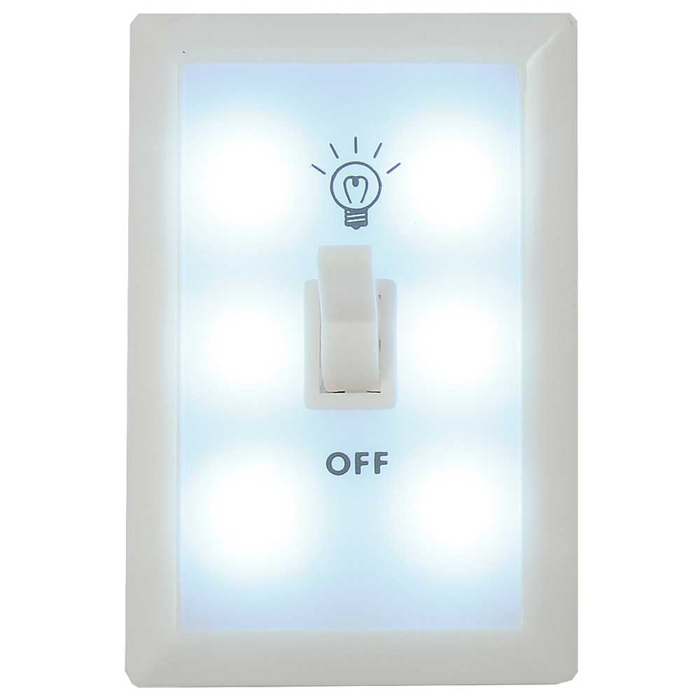 Self Switched Wall Lights : Flashing Panda - Wall Switch Light / Nightlight, 6 LED, AAA Batteries