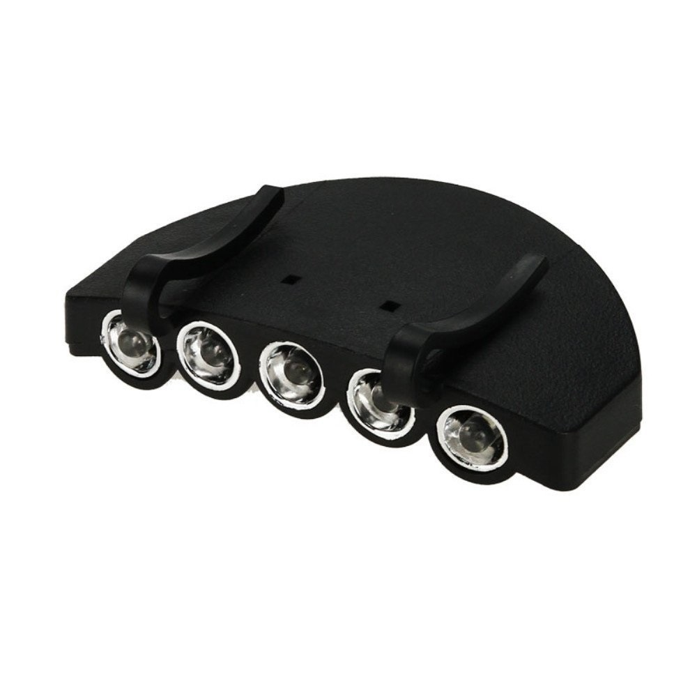5 LED Baseball Cap/Hat Clip-on Flashlight, White light