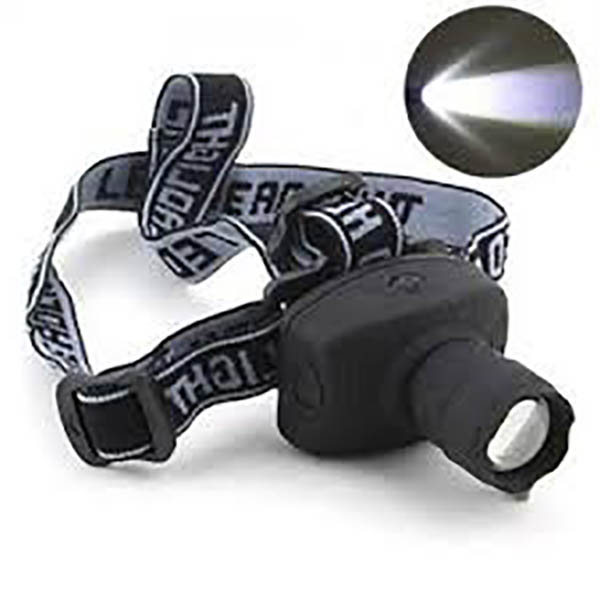 SE 3W Cree 120 Lumen Zoom Head Lamp
