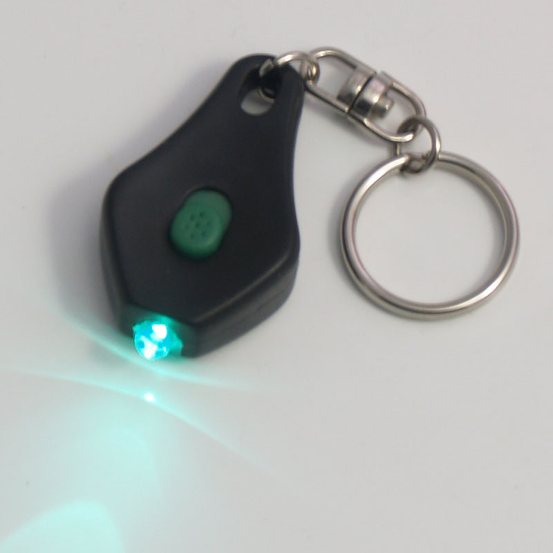 Teardrop LED Keychain - 48 piece Fishbowl - Green