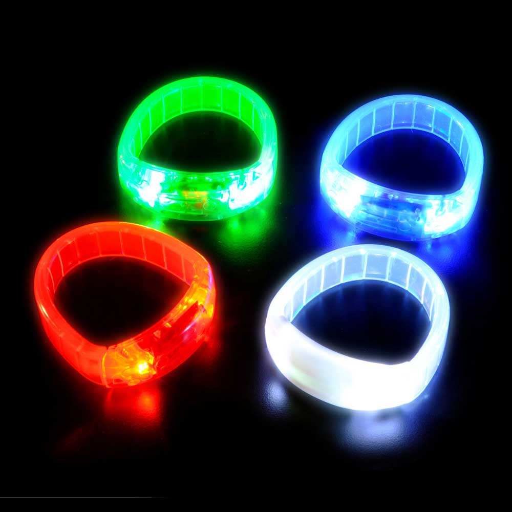 Flashing LED Bangle Bracelet, Various Colors