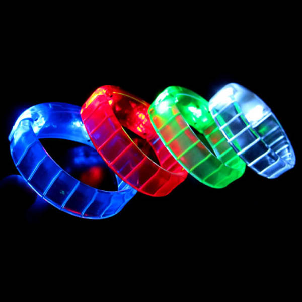 Flashing LED Bangle Bracelet, Various Colors, Bulk Lot of 24 Bracelets