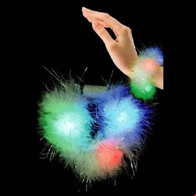 LED Flashing Feather Bracelet